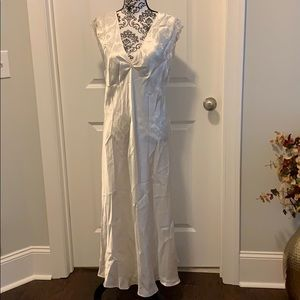 NWOT.  Woman's Ivory Satin long nightgown